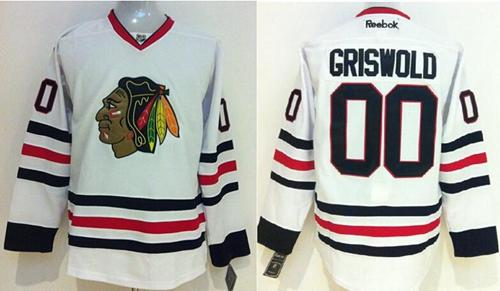 Blackhawks  00 Clark Griswold White Stitched NHL Jersey 8dc1d3a814ff